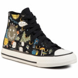 Tenisi copii Converse CTAS Camp Hi BlackBold 667527C