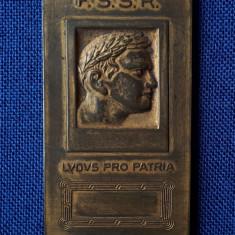 Placheta sport per. regalista - Ludus Pro Patria - F.S.S.R. - medalie