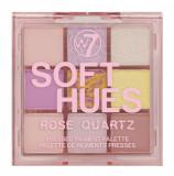 Cumpara ieftin Paleta Profesionala de Farduri W7 Soft Hues Pressed Pigment Palette, Rose Quartz, 9 culori, 8.1 g