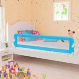 VidaXL Balustradă de protecție pat copii albastru 180x42 cm poliester