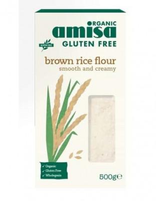 Faina de orez brun bio fara gluten 500g foto