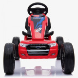 Kart cu pedale si roti din cauciuc EVA Ford Ranger Red