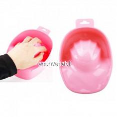 Bol pentru Manichiura din Plastic Roz BMSPA1C