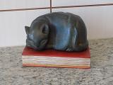 Sculptură vintage lemn masiv 1,5 kg