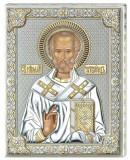 Icoana Argint Sfantul Nicolae Auriu 16x20cm Cod Produs 2778