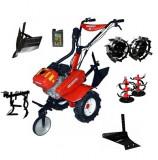 Motocultor Rotakt ROG80, 7 CP, carcasa transmisie fonta + Plug de arat + Rarita + Roti metalice + Prasitoare + Cadou ulei