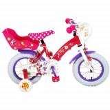 Bicicleta Minnie Mouse 12 Inch cu Roti Ajutatoare si 2 Frane de Mana
