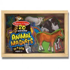 Set animale din lemn cu magneti, Melissa si Doug
