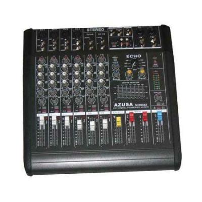 Mixer audio cu amplificator consola dj 8 canale pmq2108 2x240w foto