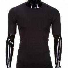 Tricou barbati, bumbac - S970-negru