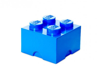 Cutie depozitare LEGO 2x2 - Albastru inchis foto