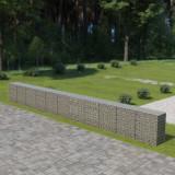 VidaXL Gabion perete cu capace, 900 x 50 x 100 cm, oțel galvanizat