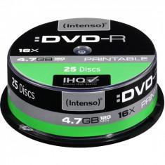 Mediu optic Intenso DVD-R 4.7 GB 16x 25 bucati Printabil
