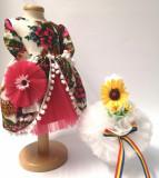 Cumpara ieftin Set Traditional Botez Fetita - Costumas + Lumanare - TUL