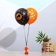 Greutate pentru baloane cu heliu, metal, invelita in folie multicolora