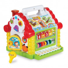 Casuta muzicala, jucarie creativa , cu pian, muzica si forme interactive pentru copii (1-3 ani) - 739