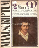 Cumpara ieftin Manuscriptum. Revista Trimestriala Nr.: 2/1972 * (7) Anul III