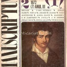 Manuscriptum. Revista Trimestriala Nr.: 2/1972 * (7) Anul III