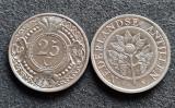 Antilele Olandeze 25 cent centi 1989, America Centrala si de Sud