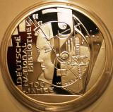 A.741 GERMANIA DEUTSCHE NATIONAL BIBLIOTHEK 10 EURO 2012 D PROOF ARGINT .625/16g