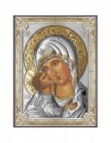 Icoana Maica Domnului Vladimir 8X11cm Argintiu/Auriu Cod Produs 2535