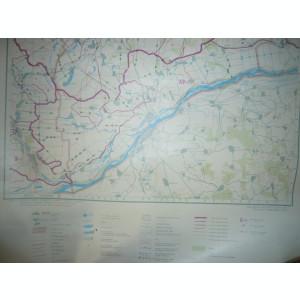 Harta Hidrografica a Judetului Giurgiu scara 1: 200 000 Institut Geodezie