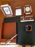 Set accesorii din lemn, pentru birou, varianta Executive, 8 piese