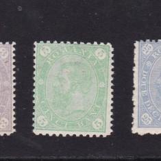 ROMANIA 1894  LP 49  LOT CIFRA IN 4 COLTURI  FILIGRAN  PR