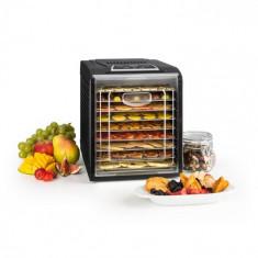 Klarstein FRUIT JERKY PLUS 9, uscător de fructe, timer, 9 rafturi, tablă, 600-700 W, culoare neagră
