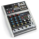 Mixer analogic pasiv cu 4 canale BT/USB/DSP/48V Vonyx
