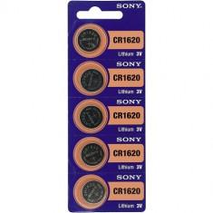 Baterii litiu CR1620 Sony 3V 5 Baterii /Set