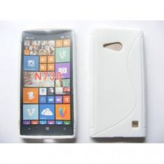 Husa silicon S-line Nokia Lumia 730 / 735 Alb