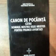 CANON DE POCAINTA CATRE DOMNUL NOSTRU IISUS HRISTOS PENTRU PRUNCII AVORTATI