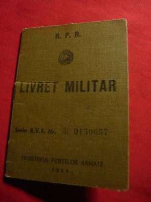 Livret Militar - Serviciul Medical 1957 foto
