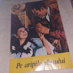 """PROGRAM CINEMA PATRIA BUCURESTI 1974""""PE ARIPILE VANTULUI""""-PREMIERA IN ROMANIA"""
