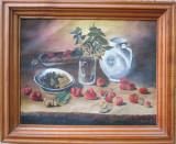 Tablou natura moarta, Flori, Ulei, Realism