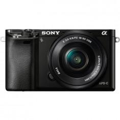 Sony ILCE6000, 24.3MP, Black + Obiectiv 16-50mm
