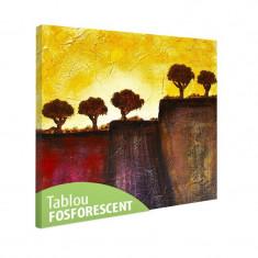 Tablou fosforescent Copaci in Toscana