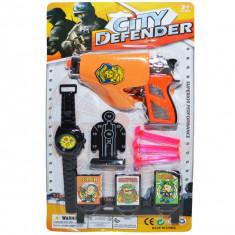 Pistol cu ventuze + accesorii