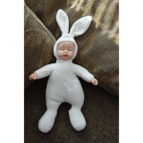 SET Jucarii de plus -4x bebe imbracat in iepuras, 30cm