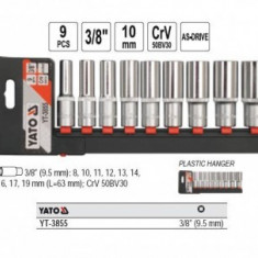 "Trusa tubulare lungi 3/8"" cu suport plastic Yato YT-3855"