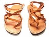 Cumpara ieftin Sandale Summer Caramel, 45, 46, Camel, Sandaleromane