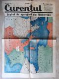 WWII - HARTA OPERATIUNI IN MEDITERANA - EXTRAS DIN ZIARUL CURENTUL 15 IUNIE 1940