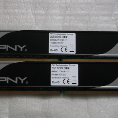 Kit Memorii 4gb ddr2 800mhz  PNY Dual channel