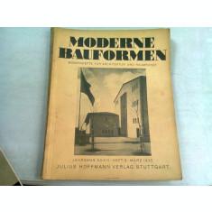 MODERN BAUFORMEN NR.3/1935 (REVISTA LUNARA DE ARHITECTURA, IN LIMBA GERMANA)