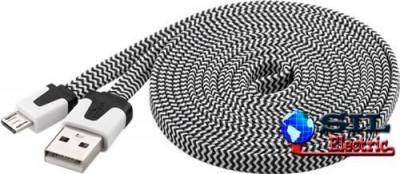 USB MICRO-B 200 Textil S/W 2.0m FLAT foto