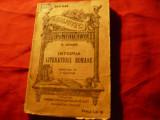 H.Bender - Istoria Literaturii Romane ,trad. I.Cutui 1914 BPT 945-946 ,188pag
