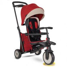 Tricicleta Pliabila 7 in 1 cu Certificare de Carucior si Tehnologie Touch Steering STR5 Rosu, Smart Trike