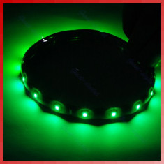 Banda led, de culoare verde, 30 cm, 15 led-uri smd 3528, rezistenta la apa