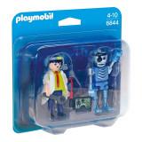 Set figurine Playmobil City Action - Om de stiinta si robot (6844)